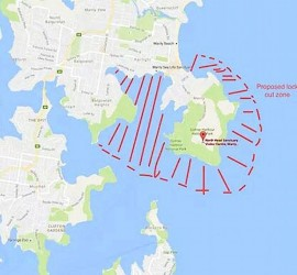 Sydney proposed fishing lock out